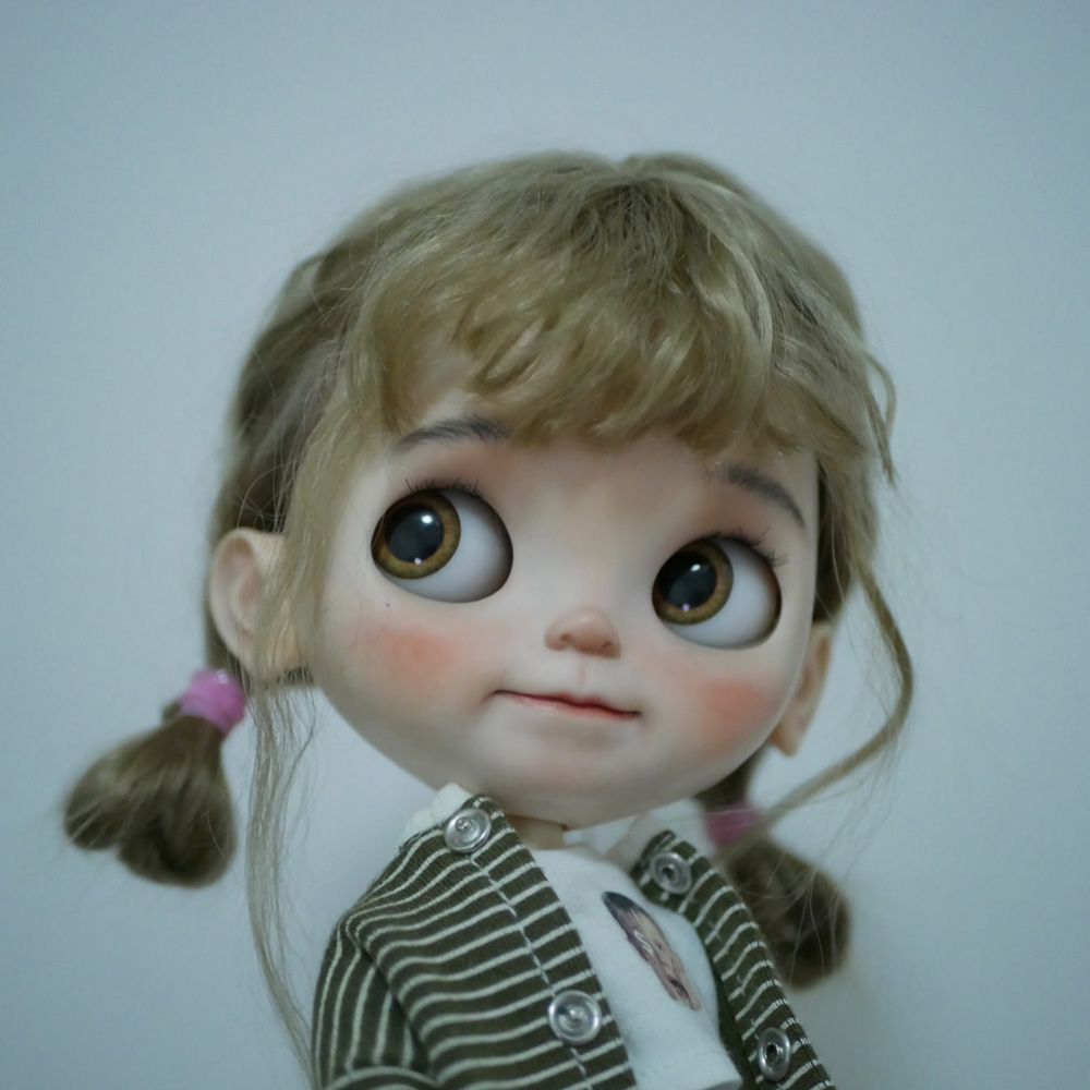 1/6 Blyth Doll Toy Bjd Joint Body White Skin Makeup Doll With 19 Joint Body Makeup Face Doll Sleep Eyes Pout