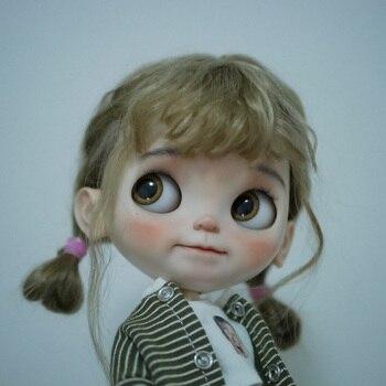 1/6 blyth doll toy bjd joint body white skin makeup doll with 19 joint body makeup face doll Sleep eyes Pout
