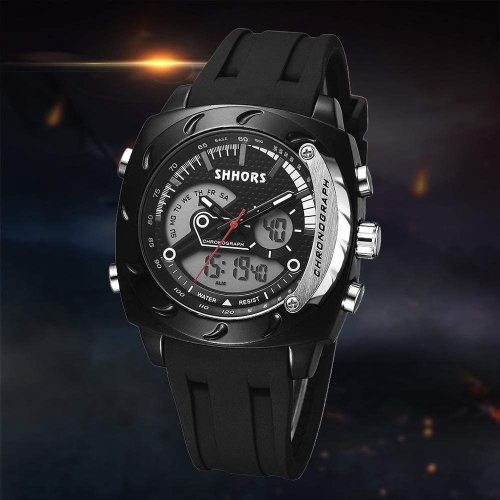 Watch Chronograph Quartz Military Sport Silicone Waterproof Relojes Men Luxury Analog