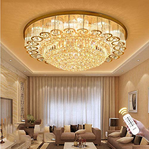 Luxury Crystal Chandelier Led Ceiling Lamp Flush Mount Modern Pendant Lighting Fixtures For Living Room Bar Shop Ceiling Lights Aliexpress