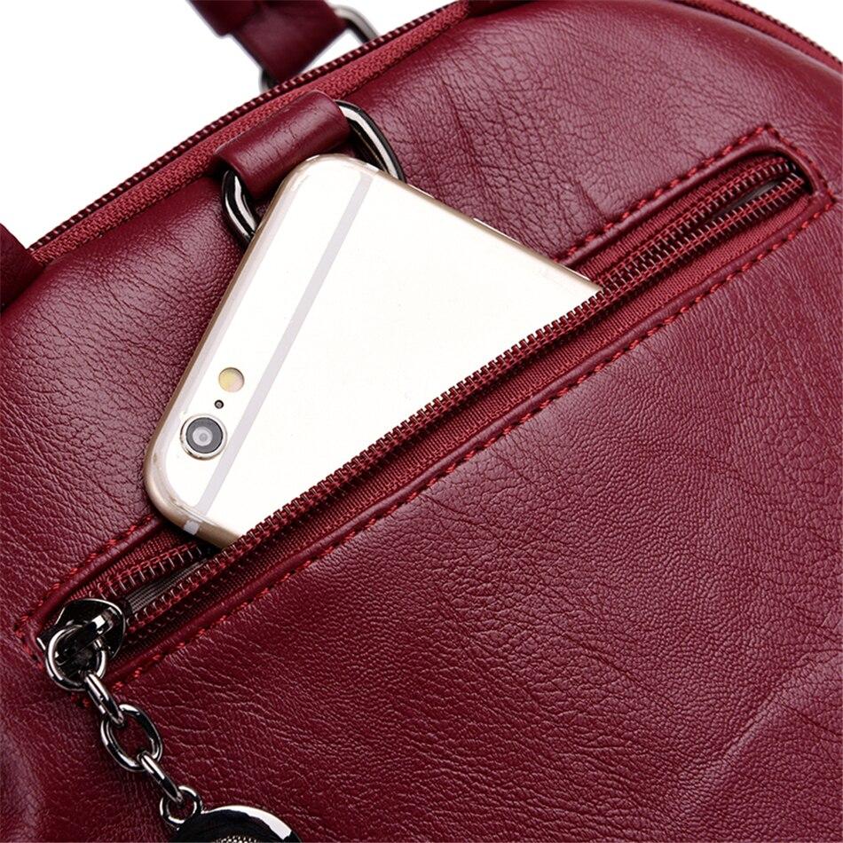 Image 5 - Multifunction Women Backpacks Female Shoulder Bag School Bags For Teenage Girls Designer Leather Women Travel Backpack MochilaBackpacks   -
