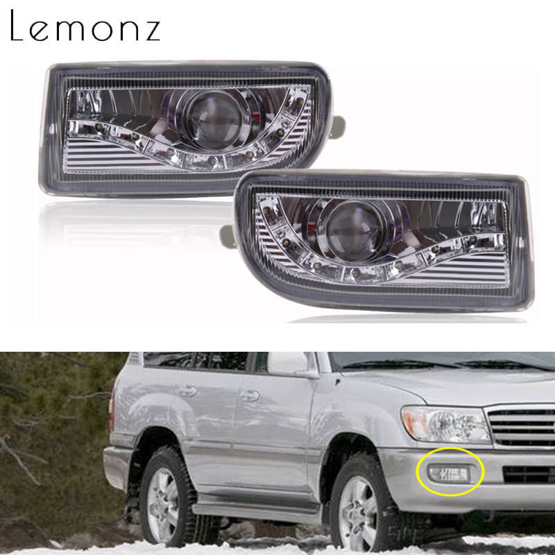 Front Bumper LED Fog Light Foglights For TOYOTA LAND CRUISER 100 1998 2008 4700 LC100 UZJ100 FZJ100 HDJ100 Running Driving Lamp