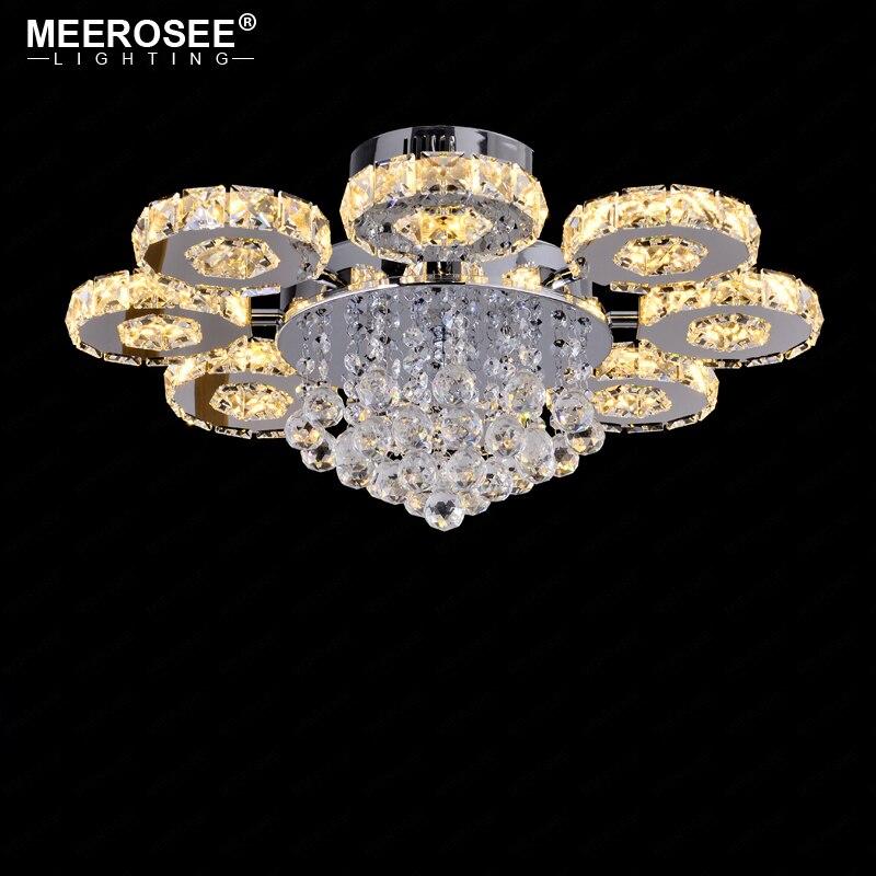 Светодиодный потолочный светильник, современный, Круглый, с кристаллами