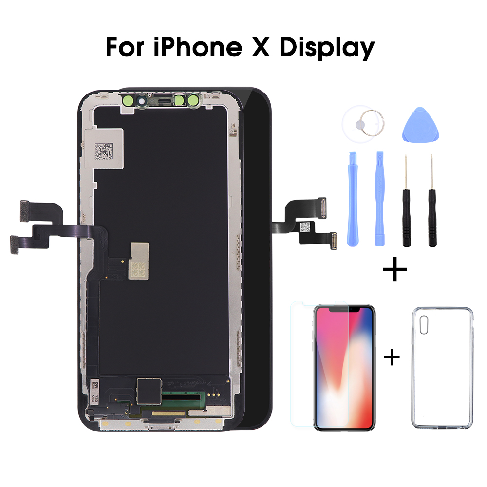 Grade AAA  LCD Screen For iPhone X LCD Display with 3D Touch Screen Digitizer Assembly Replacement-in Mobile Phone LCD Screens from Cellphones & Telecommunications