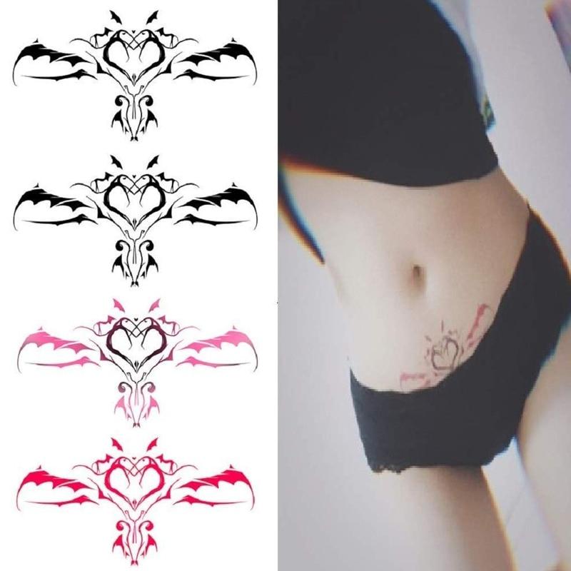 1PC New Navel Sticker Sexy Navel For Women Waterproof Temporary Sticker Fashion Fake Body Art Tattoo Sticker