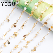 YEGUI C106,jewelry accessories,diy chain,18k gold plated,0.3