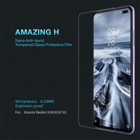 Protetor de tela de vidro temperado 9 h genuíno nillkin incrível h anti-explosão para xiaomi redmi k30/k30 5g telefones celulares