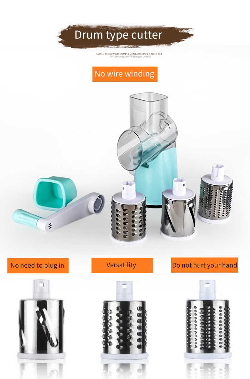 Manual Vegetable Cutter Alat Pemotong Aksesoris Dapur Multifungsi Bulat Mandoline Slicer Kentang Keju Alat Dapur
