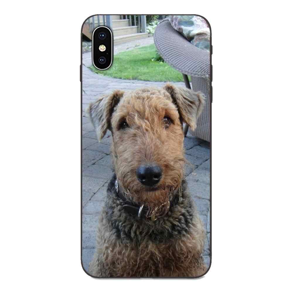 Airedale Terrier Dog Art pour Huawei Honor profitez de Mate Note 6s 8 9 10 20 P20 P30 Lite Play Pro P coque souple de protection intelligente
