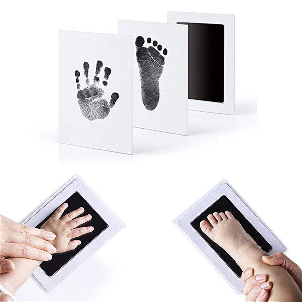 Baby Souvenirs Hand Footprint Imprint Kit Foot Print Handmade Ink Pad Non-toxic Handprint Casting Newborn Record Growth Gifts