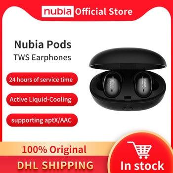 100% Original Nubia Pods TWS Earphones Stylish True Wireless Earbuds with Qualcomm® aptX™ HD audio wireless Bluetooth 5.0