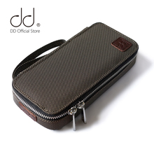 DD ddHiFi C 2019(Brown) Customized HiFi Carrying Case for Audiophiles, Headphone and cables Storage bag, player protective case.