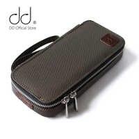 Funda de transporte de alta fidelidad personalizada DD C-2019 (marrón) para audiófilos, bolsa de almacenamiento de auriculares y cables, funda protectora para reproductor de música.