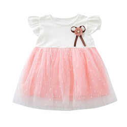 Bonito vestido infantil bebê menina vestido de algodão meninas roupas rendas sem mangas vestidos de costura bonito roupas princesa 0-24 meses