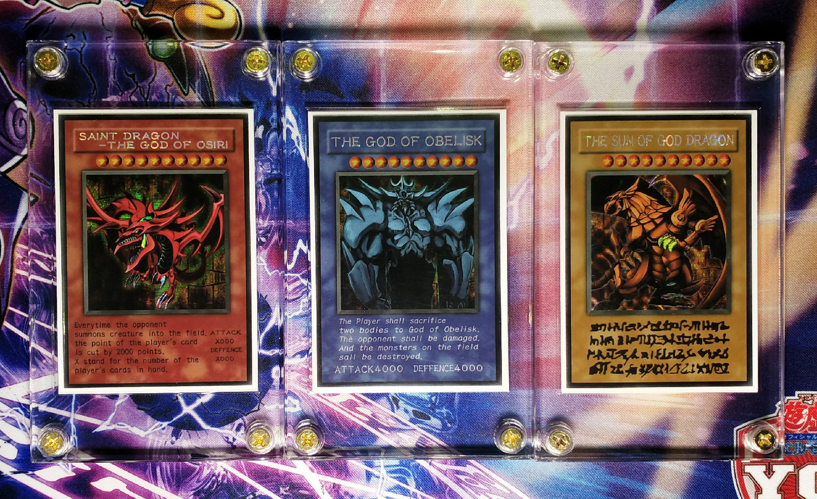 Yu Gi Oh Slifer the Sky Dragon Obelisk the Tormentor DIY Colorful Toys Hobbies Hobby Collectibles Game Collection Anime Cards