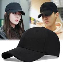 Alta qualidade unisex preto feminino boné de beisebol dos homens verão 2021 kpop coréia estilo sólido snapback bonés masculino esporte chapéu gorras mujer