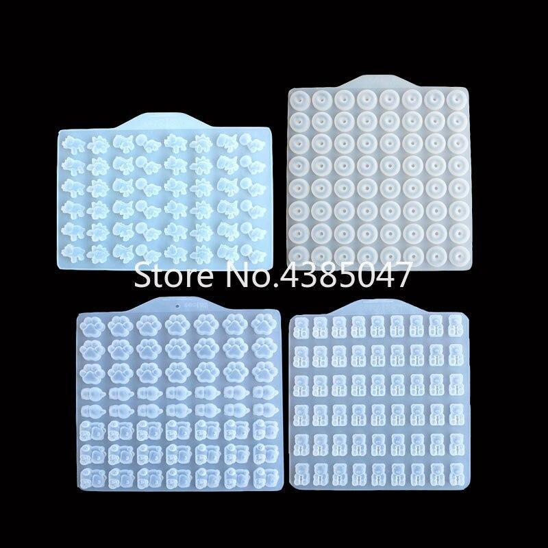 DIY Bear Sugar Silicone Jewelry UV Resin Epoxy Molds Jewelry Tools Dried Flower Craft Hand Made Jewelry Decoration