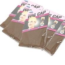 Wig Cap Making-Wigs Stretchable Weaving-Hair-Net Wig-Cap Stocking Mesh Beige Brown Black