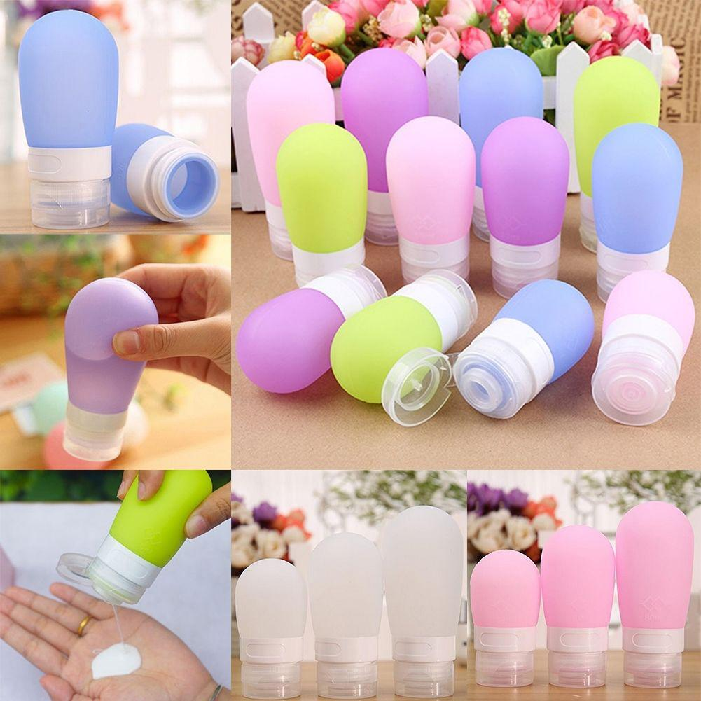 Hot Portable Silicone Travel Bottle Lotion Shampoo Cosmetic Empty Mini Container Refillable Bottles & Accessories
