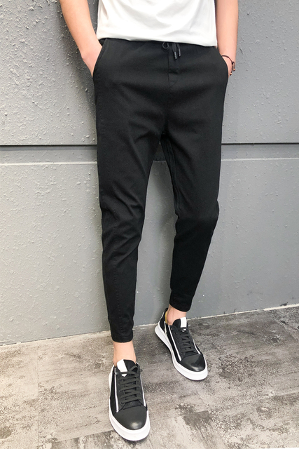 Pantalones Hombre Fashion 2020 New Spring Streetwear Joggers Men Slim Fit All Match Solid Casual Pants Men Drawstring Trousers 5