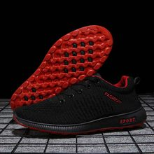 Men's shoes wild sports shoes men's casual shoes men's running shoes autumn breathable mesh shoes men red bottom shoes(China)