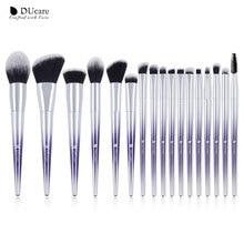 DUcare 17 pièces pinceaux de maquillage ensemble fond de teint poudre fard à paupières sourcils pinceaux pour maquillage trousse à outils cosmétique