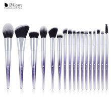 Набор кистей для макияжа DUcare, 17 шт., пудра, тени для век, кисти для бровей, набор косметических инструментов для макияжа