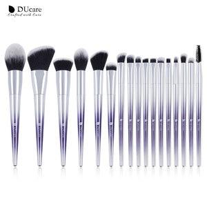 Image 1 - Ducare 17 pçs pincéis de maquiagem conjunto fundação pó sombra sobrancelha escovas para maquiagem kit de ferramentas cosméticos