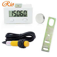 Five Digit Digital Electronic Counter Puncher Magnetic Inductive Proximity Switch Durable Quality+Proximity switch+Limit switc