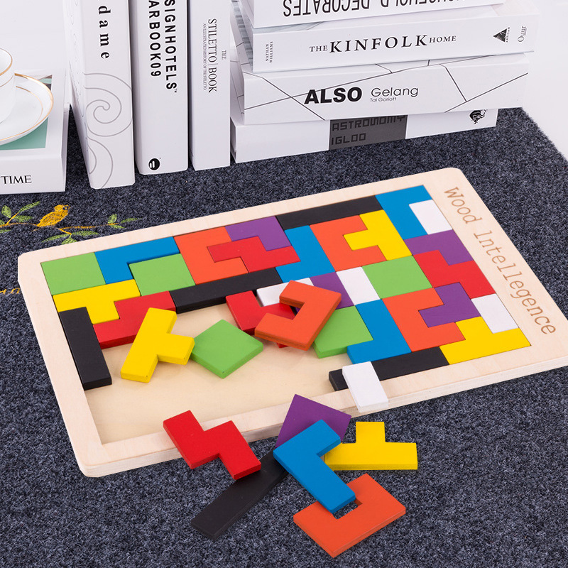 Children's Tetris Jigsaw Building Blocks Toys 3-6 Years Old Develop Intellectual Power Boys And Girls Baby Kindergarten Toy