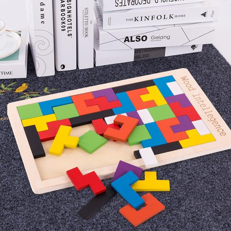Children's Tetris Jigsaw Building Blocks Toys 3-6 Years Old Develop Intellectual Power Boys And Girls Baby Kindergarten Toy