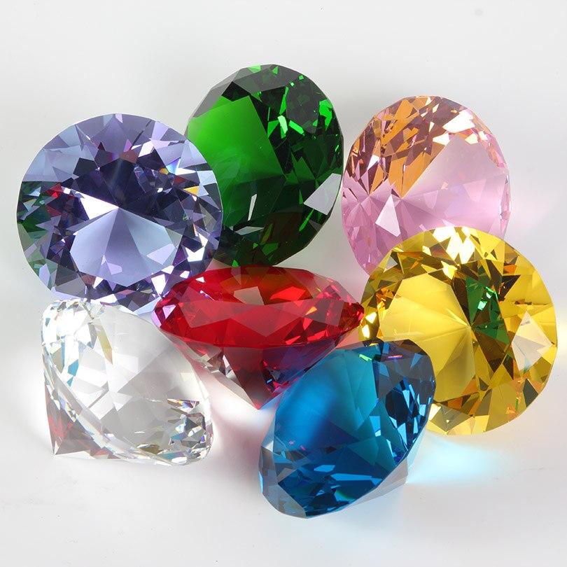 Цветные вечерние украшения из большого стекла с бриллиантами, большие бриллианты, романтическое предложение, украшения для дома, вечерние рождественские подарки
