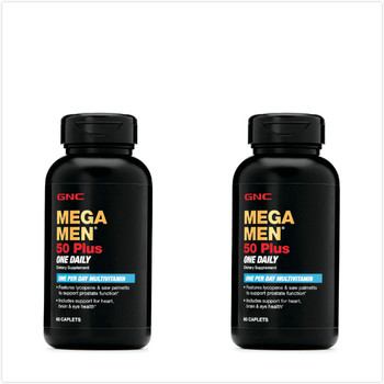 2pcs *60 Caplets MEGA MEN 50 PLUS ONE DAILY