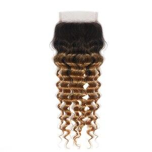 Image 2 - Perruque Lace Closure Deep Wave Non Remy brésilienne KEMY Hair