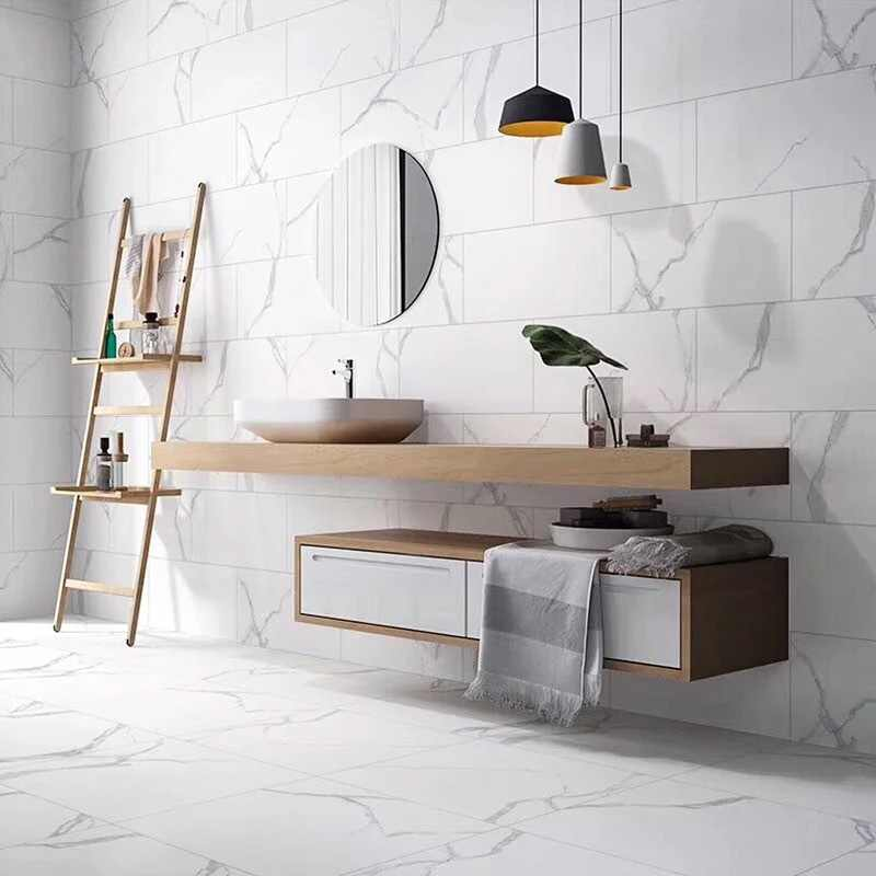 Foshan All Ceramic Jazz White Marble