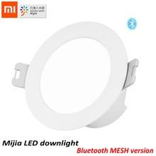 100% Xiaomi Mijia Smart Led Downlight Bluetooth Mesh Version Gesteuert Durch Stimme Smart Fernbedienung Einstellen Farbe Temperatur
