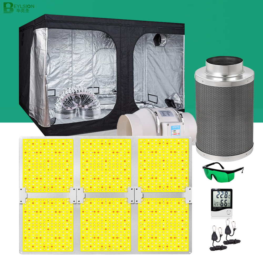 BEYLSION Hydroponic Growing System Grow Tent Complete Kit Grow Lamps Parts Carbon Filter Grow LED For Indoor Plant Growing