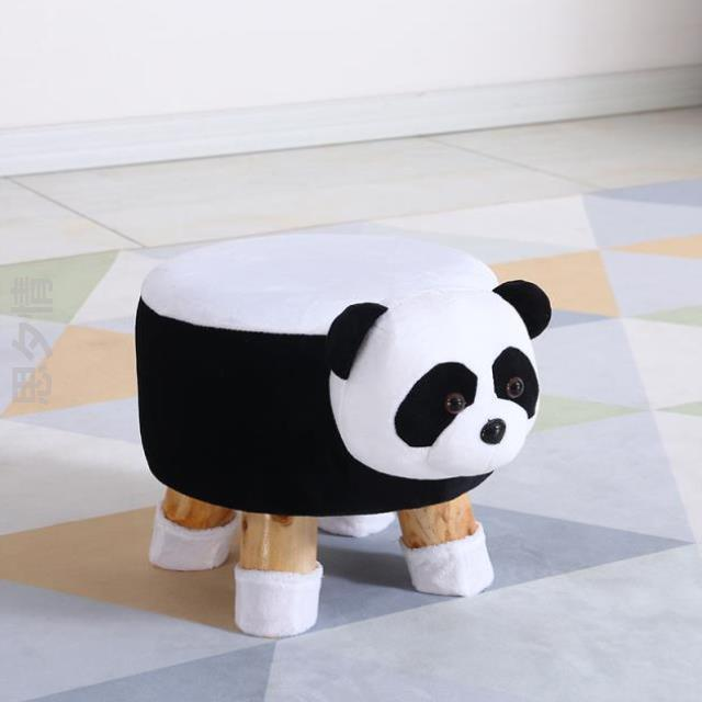 H1 New Animal Shoes Bench Storage Chair Cows Stool Door Entrance Porch Change Shoes Children Stool Small Chair Solid Wood Cute