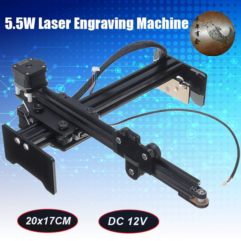5.5W Laser USB Engraver Metal Wood Cutter Router Carved Logo Printer Engraving Machine DIY Kit Woodworking Machinery Tools
