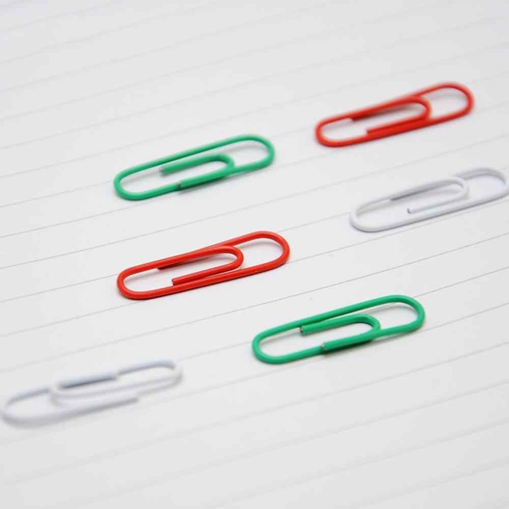 200PCS/Box Durable Metal Material Paper Clips Pin Anti-Rusted Bookmark Clip Office Shool Stationery Marking Clips