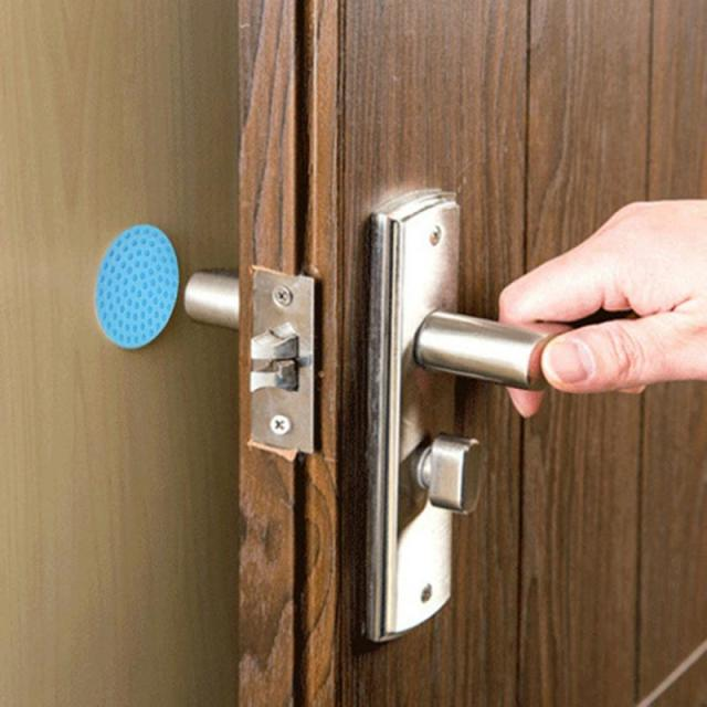 Baby Safety Shock Security Door Protection Pad Door Handle Rubber Lock Crash Mat Table Corner Protection Hot 4 color 4