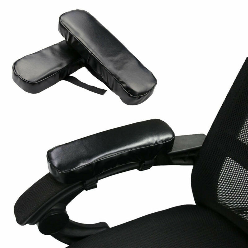 1 Pair Chair Memory Foam Armrest Seat Cushion Pads Mat Elbow Arm Cover Sponge