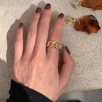 H1b9242c4861948e9bc642a7ff8eac099t 1PC 2020 Fashion Golden Metal Rings for Women