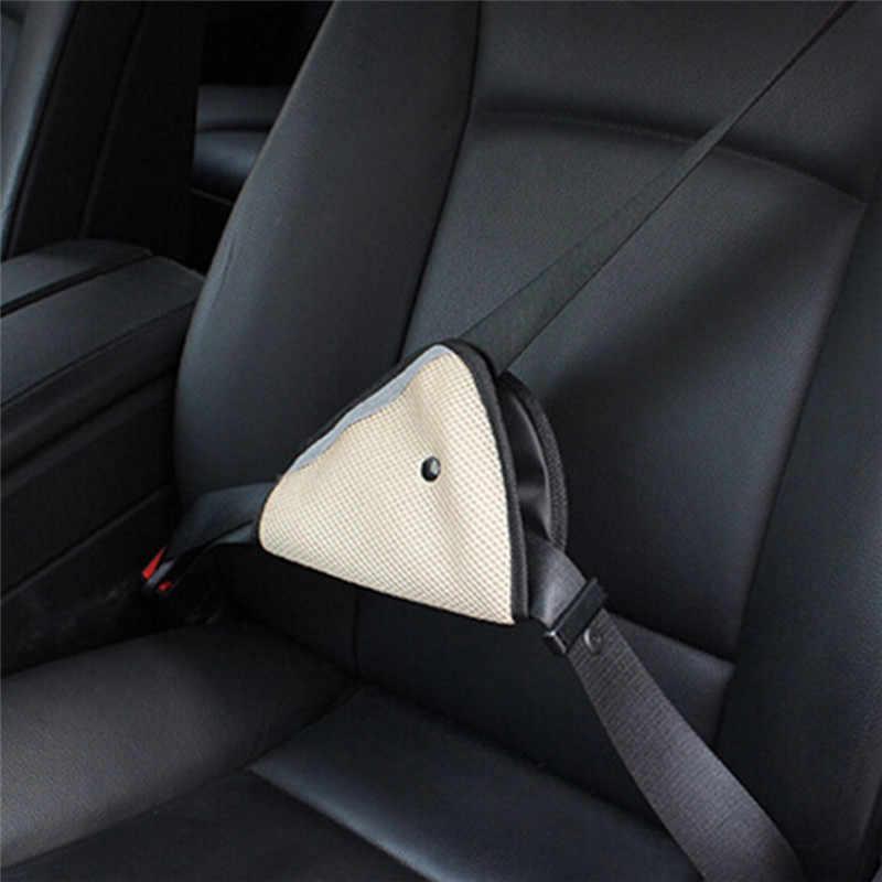 자동차 어깨 하네스 스트랩 삼각형 자동차 안전 벨트 어린이를위한 조정 아기 어린이 안전 벨트 보호대 조절기 안전 벨트 커버
