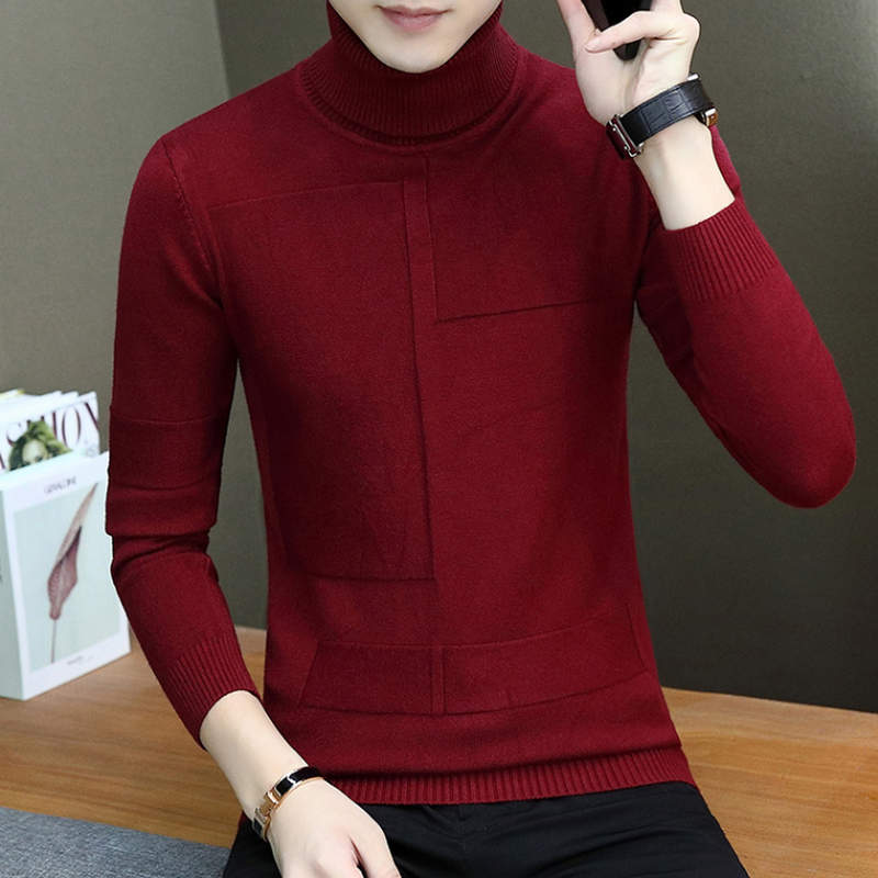 2019 NEW Hot Sale Winter Mens Fashion Sweaters And Pullovers Men Brand Sweater Male Outerwear Jumper Knitted Turtleneck Sweater