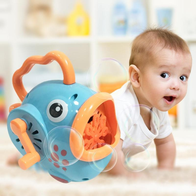 Outdoor Blowing Bubble Crabs Baby Bath Toy Bubble Maker Swimming Bathtub Soap Machine Toy For Children With Music Water Toy