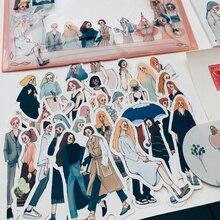 31 наклейка для девушек в винтажном стиле, стикер для рукоделия, скрапбукинга, альбома, дневника, планировщика, декоративные стикеры s