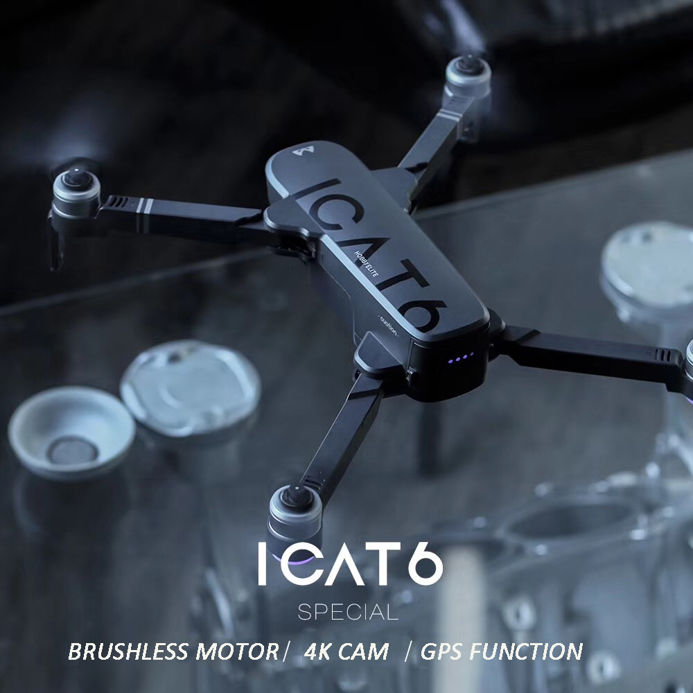 New ICAT6 GPS RC Drone Selfie with 4K HD Camera WiFi FPV optical flow smart Brushless Quadcopter Foldable Arm Dron Vs CG033
