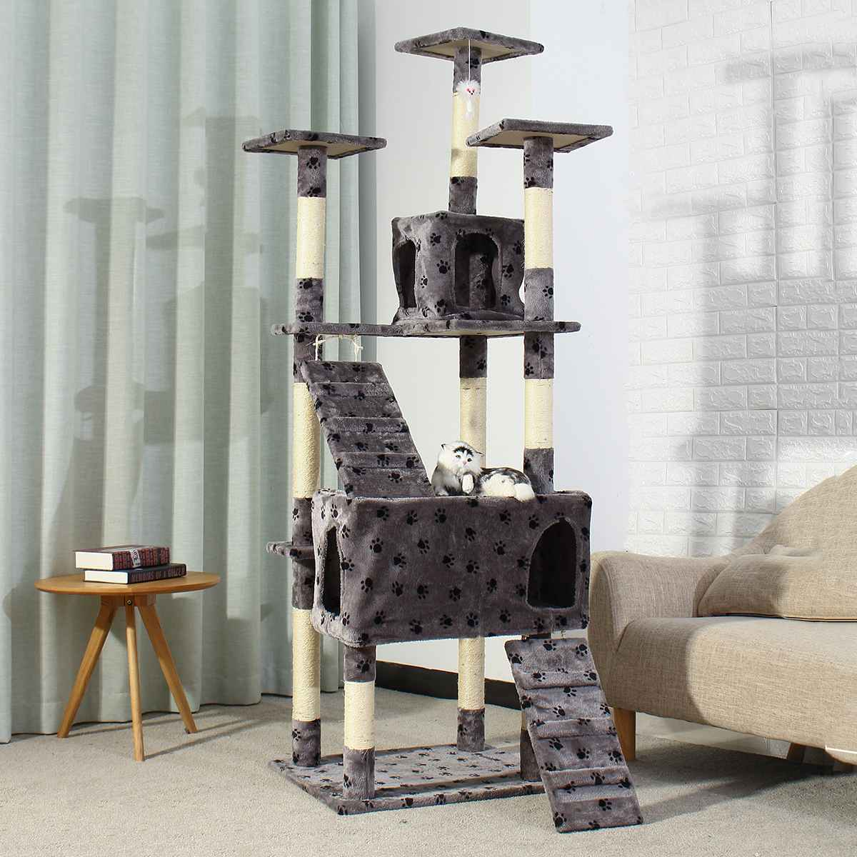 186CM <font><b>Large</b></font> Pet <font><b>Cat</b></font> Climbing <font><b>Tree</b></font> House <font><b>Cat</b></font> Toy <font><b>Tree</b></font> Scratcher Play House Condo Furniture Climbing Frame <font><b>Cat</b></font> Condos Scratching image