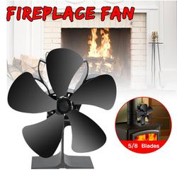 Silen 5/8 Blades Stove Fan with Stove Thermometer Eco-Friendly Heat Powered Tops Blower Large Room for Fireplace/Wood/Log Burner